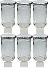 mikken 6 x Vorratsglas 1,0 Liter Einmachglas mit
