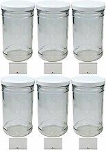 mikken 6 x Vorratsglas 1 Liter Einmachglas mit