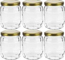 mikken 6er Set Vorratsglas 1 Liter Einmachglas mit