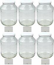 mikken 6X Einmachglas 1,7 Liter Vorratsglas,
