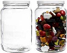 mikken - Einmachglas 2er Set 1,7 Liter mit