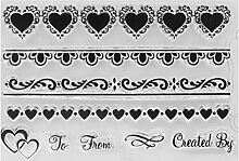 mikolot Silikon Clear Stamps DIY Love Herz