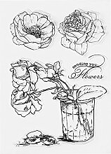 mikolot Silikon Transparent Rose Blume Dichtungen