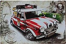 Mikolot Vintage Auto Metall Eisen Teller Poster