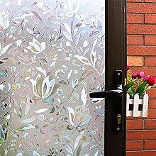 Mikomer Deko-Fensterfolie, Tulpenmotiv, kein