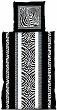 Mikrofaser Bettwäsche 2tlg. Zebra 135x200 cm