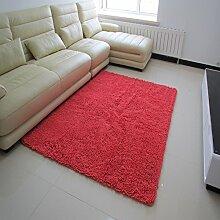 Mikrofaser Chenille Teppich/Wohnzimmer Couchtisch Wohnzimmer Erker durch den Bett-Teppich-G 140x200cm(55x79inch)