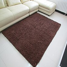 Mikrofaser Chenille Teppich/Wohnzimmer Couchtisch Wohnzimmer Erker durch den Bett-Teppich-D 140x200cm(55x79inch)