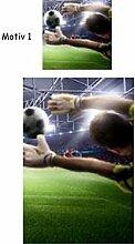 Mikrofaser Kinder Bettwäsche Fußball Tor Torwart