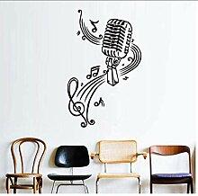 Mikrofon Musik Notizen Wandkunst Abziehbilder