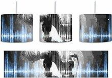 Mikrofon Pinsel Effekt inkl. Lampenfassung E27,