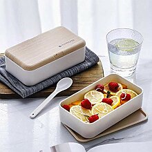 Mikrowelle Double Layer Lunch Box Portable Holz