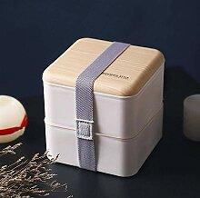 Mikrowelle Double-Layer-Mittagessen-Kasten aus