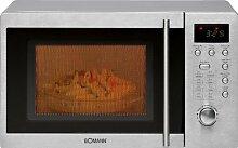 Mikrowelle Edelstahl 800 Watt mit Grill 1000 Watt