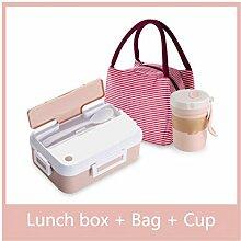 Mikrowelle Lunch Box mit Geschirr Cup Leakproof