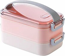Mikrowelle Lunchbox Doppelschicht Bento Box