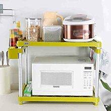 Mikrowelle Ofen Regal Multifunktions-Speicher Rack Gewürz Double Shelf Küche Lagerung Rack Ofen Rack Töpfe ( Farbe : #1 )