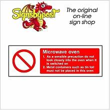 Mikrowelle Zeichen für HSE Gesundheit Sicherheit