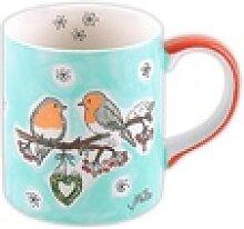 Mila Becher Mila Keramik-Becher, Wintervögel,