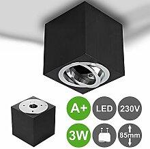 MILAN-L LED Aufbaustrahler Aufbauleuchte 3W GU10