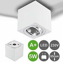 MILAN-L LED Aufbaustrahler Aufbauleuchte 5W GU10