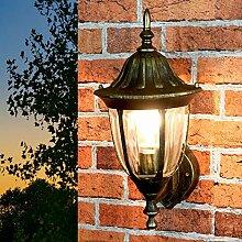 MILANO Retro Wandlampe Außen Aluminium in Gold