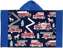 MILASIA 100% Baumwolle Handtuch Kinder Poncho mit