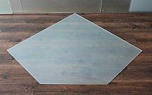 Milchglas Fünfeck 90x90cm Glasbodenplatte