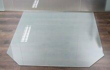 Milchglas Glasbodenplatte Funkenschutzplatte Kaminplatte Glas Ofen Platte Bodenplatte Kaminofenplatte Unterlage (Milchglas Sechseck 100x100cm [SE100/100])