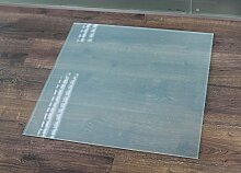 Milchglas Glasbodenplatte Funkenschutzplatte Kaminplatte Glas Ofen Platte Bodenplatte Kaminofenplatte Unterlage (Milchglas Quadrat 100x100cm [Q100/100])