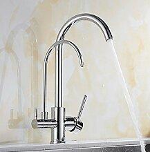 MildemrSchwarz, Kalt Und Heiß Küche Drei In Einem Wasserfilter, Wasserhahn Wasserhahn Ablauf, Swivel Outlet.