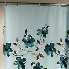 Mildew Proof Polyester Stoff Duschvorhang mit 12 Haken ( Farbe : A , größe : 300*200cm )