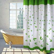 Mildew Proof Polyester Stoff Duschvorhang mit Haken (weiß) ( Farbe : Weiß , größe : 200*200cm )
