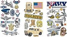 Militär Aufkleber für Scrapbooking | Army US Air