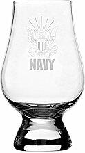 Militär Motto geätzt Glencairn Kristall Whisky