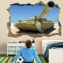 Militärische Panzerpistole Wandkunst Aufkleber