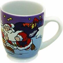 Milka Tasse / Becher z.B. für Kakao oder Kaffee, mit Weihnachtsmotiv Edition Nr. 13, 250 ml