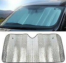 Milopon Auto Sonnenblende Auto Windschutzscheibe Sonnenschutz Auto Aluminiumfolie Sonnenschirm Faltbare Einfache Lagerung 140 * 70CM