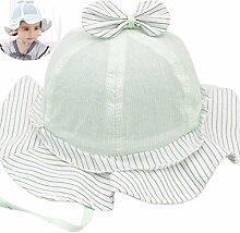 Milopon Baby Mädchen Mütze Sonnenhut Sonnenmütze Sommer UV-Schutz Babymütze Hut Kinder Sonnenschutz Sommermütze mit Süßer