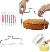 Milopon Tortenbodenteiler Kuchen Schaber Glatter