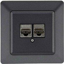 MILOS Netzwerk Dose 2x CAT 6a I 2x RJ45 Port LAN