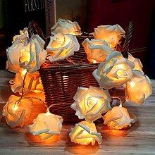 Milya Rosen Blumen Lichterkette 3 M 20 LED