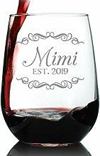 Mimi Est 2019 Weinglas ohne Stiel, für