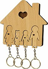 MiMi - Schlüsselbrett aus Holz mit Set