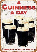 MiMiTee a Guinness a Day Blechschild Vintage