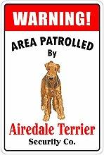 MiMiTee Airedale Terrier Blechschild Vintage