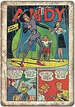 MiMiTee Andy Comic Blechschild Vintage Metall