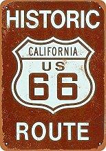 MiMiTee California Route 66 Blechschild Vintage
