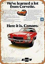 MiMiTee Camaro Car Blechschild Vintage Metall