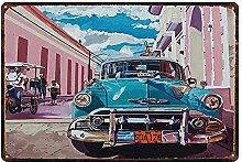 MiMiTee Car Blechschild Vintage Metall